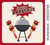 barbecue food  design  vector... | Shutterstock .eps vector #258326768