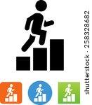 person climbing a career path...   Shutterstock .eps vector #258328682