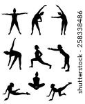 fitness silhouettes | Shutterstock .eps vector #258338486