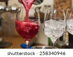 alcohol drinks on bar. cocktail | Shutterstock . vector #258340946