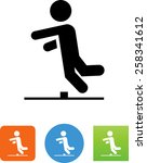 person tripping over an... | Shutterstock .eps vector #258341612