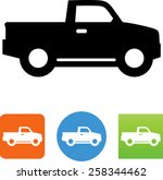 side view of a pickup truck icon | Shutterstock .eps vector #258344462