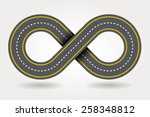 cartoon style road infinity... | Shutterstock .eps vector #258348812