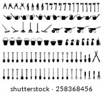 Silhouettes Of Garden Tools ...