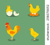 chicken farm. retro style... | Shutterstock .eps vector #258370052