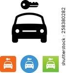 car rental icon | Shutterstock .eps vector #258380282