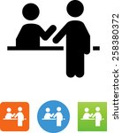 registration desk   ticket... | Shutterstock .eps vector #258380372