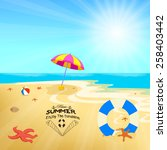 time summer enjoy the sunshine | Shutterstock .eps vector #258403442