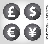 the currency signs of dollar ... | Shutterstock .eps vector #258404942
