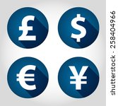 the currency signs of dollar ... | Shutterstock .eps vector #258404966