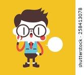 character illustration design.... | Shutterstock .eps vector #258413078