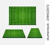 soccer field   vector... | Shutterstock .eps vector #258422072