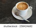hot coffee caramel macchiato | Shutterstock . vector #258424682