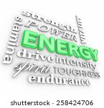 energy 3d word in a collage... | Shutterstock . vector #258424706