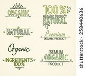 organic health food headings... | Shutterstock .eps vector #258440636