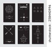 set of vector minimalism...   Shutterstock .eps vector #258440996