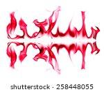 red fire light on white...   Shutterstock . vector #258448055
