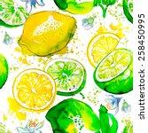 seamless pattern lemon   Shutterstock .eps vector #258450995