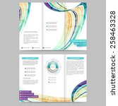 abstract colored brochure... | Shutterstock .eps vector #258463328