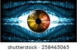 dark blue light abstract... | Shutterstock .eps vector #258465065