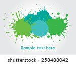 colorful paint splat .paint... | Shutterstock .eps vector #258488042