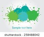 colorful paint splat .paint... | Shutterstock .eps vector #258488042
