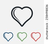 heart icon  vector illustration.... | Shutterstock .eps vector #258498836