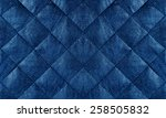 Blue Quilted Leather Fabric...