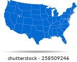 usa map | Shutterstock .eps vector #258509246