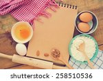 vintage of the old blank cook ... | Shutterstock . vector #258510536
