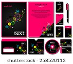 corporate style. 12 templates ... | Shutterstock .eps vector #258520112