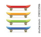 skateboard set isolated on... | Shutterstock .eps vector #258523586