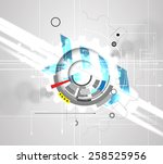 abstract vector background.... | Shutterstock .eps vector #258525956