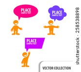 man icon with colorful dialog... | Shutterstock .eps vector #258538898