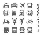 transportation icons | Shutterstock .eps vector #258542402