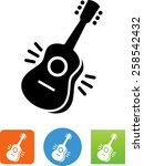 Acoustic Guitar. Vector Icons...