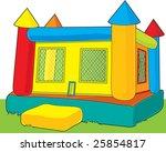 a colorful bounce castle set... | Shutterstock .eps vector #25854817