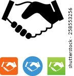 shaking hands icon | Shutterstock .eps vector #258553256