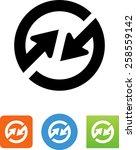 synchronize arrows icon   Shutterstock .eps vector #258559142