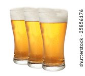 a row of beer pints isolated on ... | Shutterstock . vector #25856176