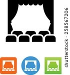 theater icon   Shutterstock .eps vector #258567206