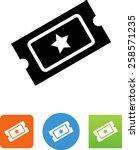 ticket icon | Shutterstock .eps vector #258571235
