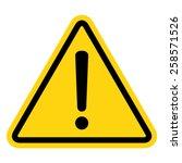 hazard warning attention sign... | Shutterstock .eps vector #258571526