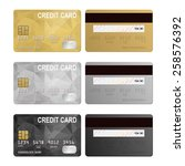 Vector Credit Cards  Front And...