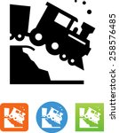 Train Going Off The Tracks Icon
