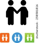 two people shaking hands icon | Shutterstock .eps vector #258581816