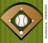 sport design over green... | Shutterstock .eps vector #258582065