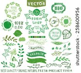 set of badges labels logo...   Shutterstock .eps vector #258600956