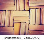 image of a stack of paperback... | Shutterstock . vector #258620972