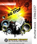 vector no stop music abstract... | Shutterstock .eps vector #25862257